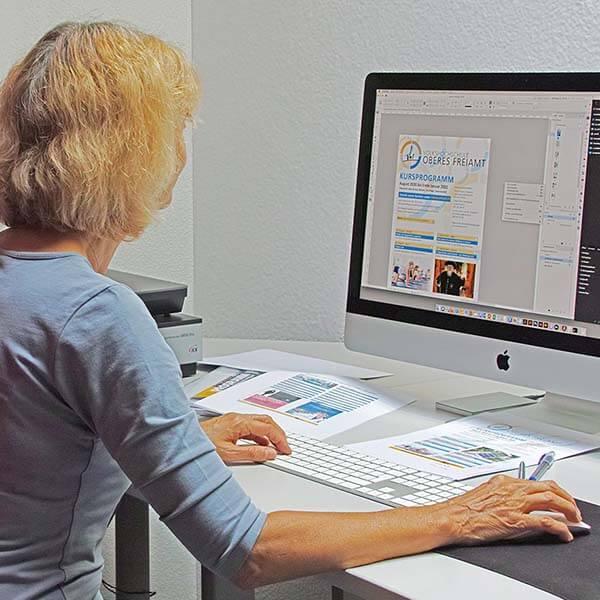 Druckerei Heller Media AG in Muri AG erstellt Ihre Druckvorlagen