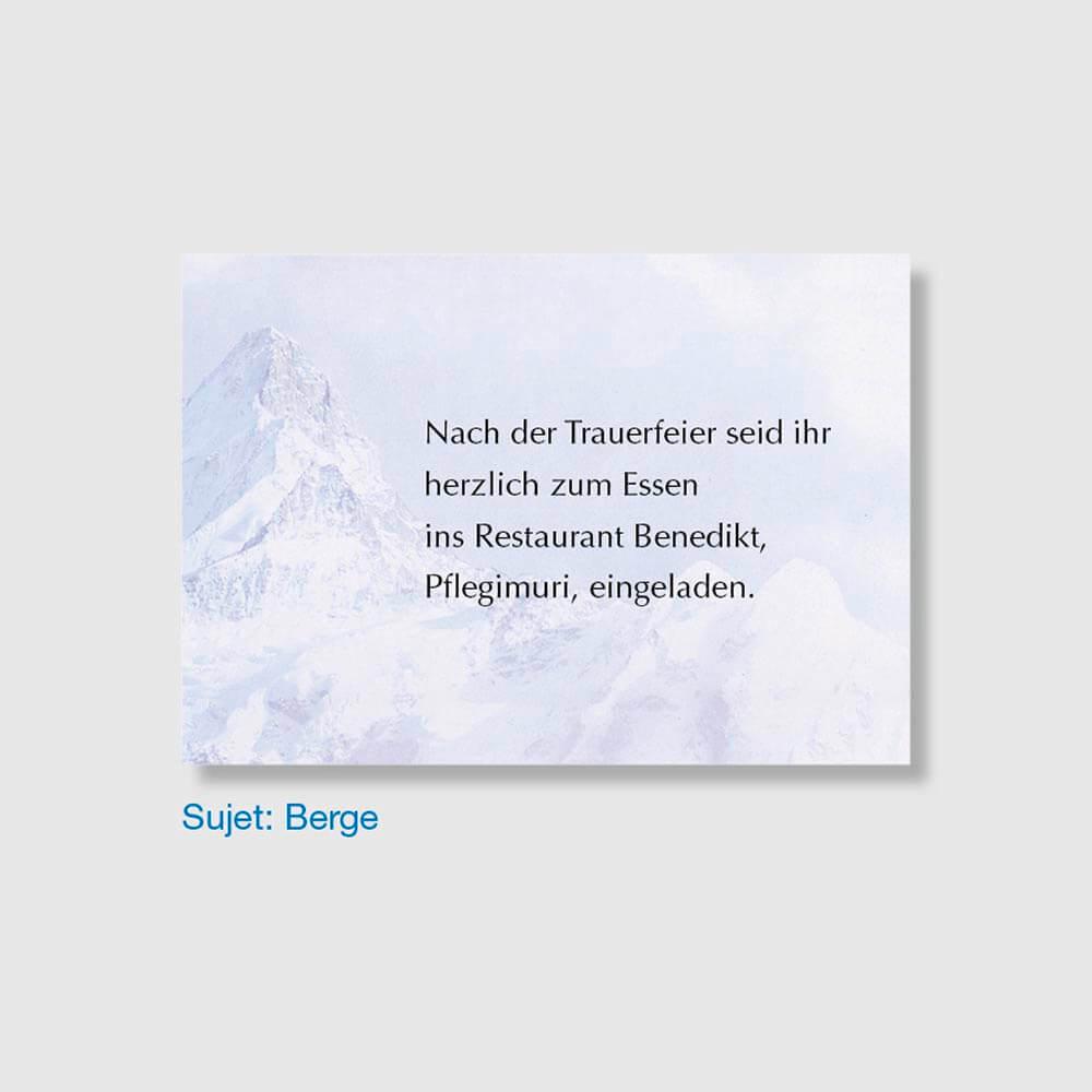 Muster Einladungskarte Sujet Berge