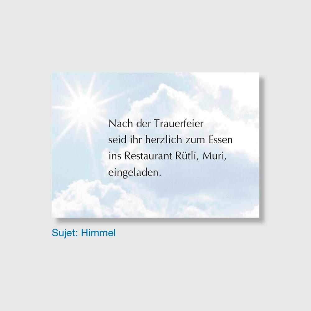 Muster Einladungskarte Sujet Himmel