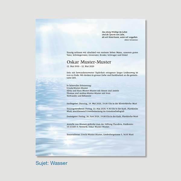 Muster Leidzirkular Sujet Wasser