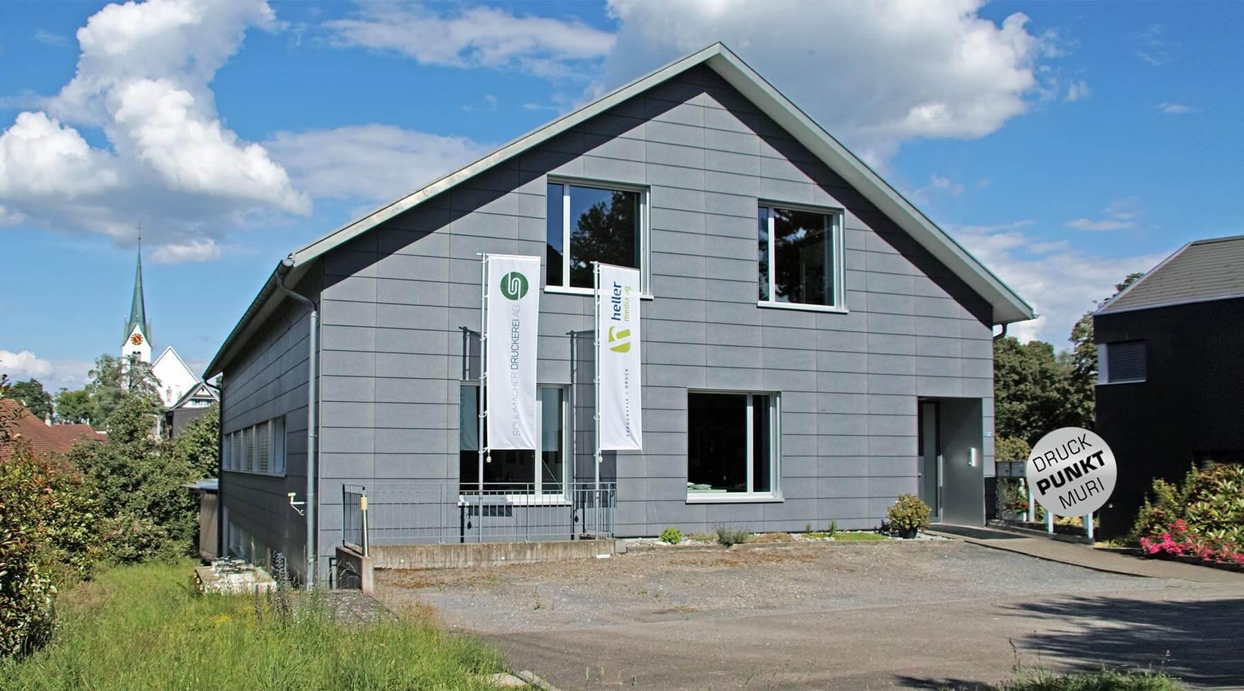 Sitz Heller Media AG - Lindenbergstrasse 5 5630 Muri AG