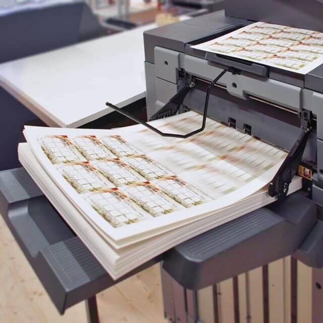 Produktion Drucksachen Digitaldruck